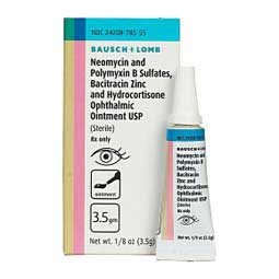 Neomycin-Polymyxin B, Bacitracin, and Hydrocortisone Ophthalmic Ointment for Dogs & Cats Generic (brand may vary)
